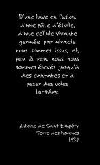 Antoine de Saint-Exupéry, Terres des Hommes