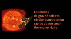 Les modes de gravité solaires révèlent une rotation rapide de son cœur thermonucléaire